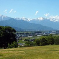 ラベンダーの時期の北アルプス展望美術館 ~池田町~
