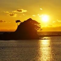 美しい夕陽 (志摩・あづり浜)