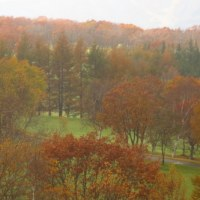 晩秋のゴルフ場