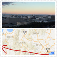 東京湾の向こうの山々が見えて居ます。
