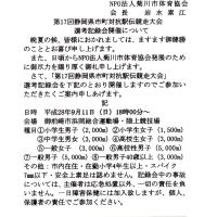 市町対抗駅伝大会菊川市選手選考記録会の日程!