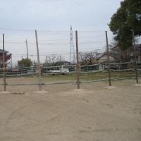 おまんとの馬場の柵が完成