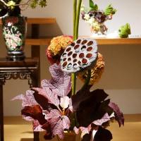 いけばな小原流展 華のおもてなし「白い秋」・・・・立田 翠広さんの作品