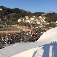 江ノ島は マラソンランナーで いっぱい