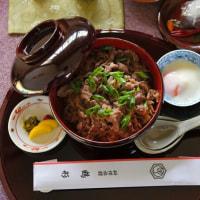 岡山県産の和牛すき焼き丼 @ 名人戦第5局