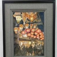梅松鶴のエレベーター前展示その3 「燈  あかり」
