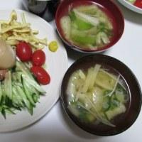 6/22冷やし中華で夕ご飯