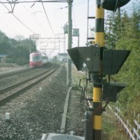 特急あさぎり 3000系【小田急線:愛甲石田駅~伊勢原駅間】 1990 JAN. 撮り鉄 車両鉄