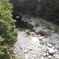 面河渓関門の様子8月16日