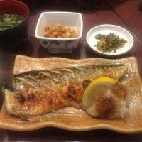 さば塩焼定食@福岡天神「味の正福 天神コア本店」