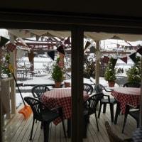 雪の・・・カフェ・・・@山梨