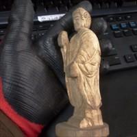 阿弥陀如来 30日の日記  袈裟、法衣の彫刻