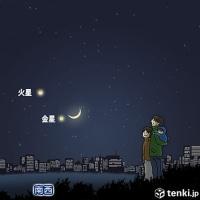 月と金星、そして火星