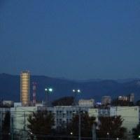 12月2日、暗い早朝ウォーキングと夕方の幻日