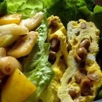 芹菜炒魷魚(セロリとイカの炒め物)弁当