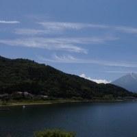 河口湖サイクリング 八木崎公園から大石公園へ