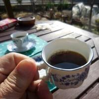 陽だまりでのコーヒータイム!