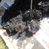 花炭を焼きました。