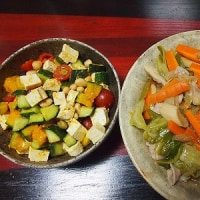 豆腐とかぼちゃのサラダ