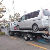 今日はレスキュー&事故車両の引き上げに積載車が大活躍です!