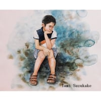 絵画販売・水彩原画「少年」