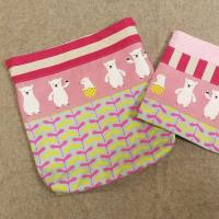 ピンクのくまさん巾着セット