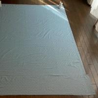 水色ジャガード織、掛け布団カバー 2