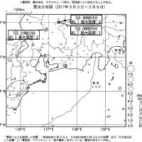 今週のまとめ - 『東海地域の週間地震活動概況(No.10)』など