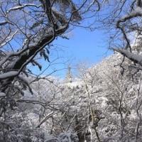 難所ヶ滝と三郡山