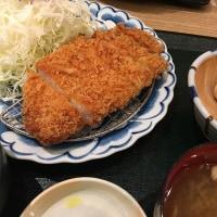 かつ楽のロースカツ定食  2017  年5月7日(日)