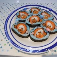 かわいいニモを巻き寿司で作りました。