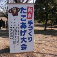手作りの凧揚げ大会