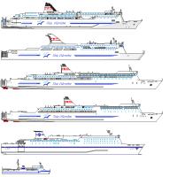 久しぶりにペイントで船の横面図を描いてみた