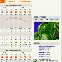 天気予報とスーパーのチラシ