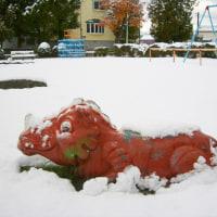 「恐竜」も 寒いと言っています !