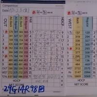今日のゴルフ挑戦記(94)/東名厚木CC ウエスト→アウト(A)