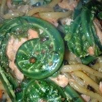 こごみ、久慈市の山菜をいただきました!