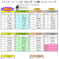 12/11(日)ORMエントリー状況