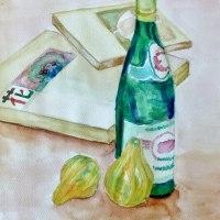 水彩画 透明瓶