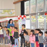 北小野保育園・・ボランティアと園児の交流会・・感謝の催し
