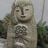 今朝(3月30日)の東京のお天気:晴れ、(3月の作品:花を持つ少女)