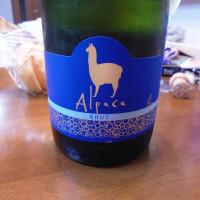 エスカルゴとアルパカスパークリングワイン