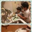 子供と一緒に夕飯作り♪