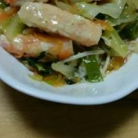 本日は野菜、野菜、蟹
