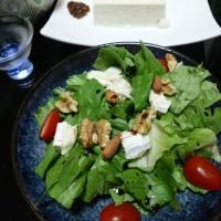 豆腐とサラダで。