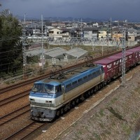 JR京都線の遅れ貨物とか撮影~名神クロスにて_17/02/21