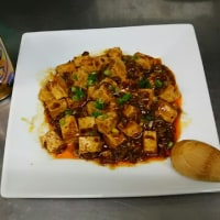 夜食は麻婆豆腐です。
