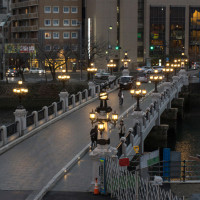 時雨模様の猿猴橋 170114