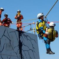 総合防災訓練を見学