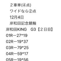 12/4 岸和田記念競輪 G3 2日目